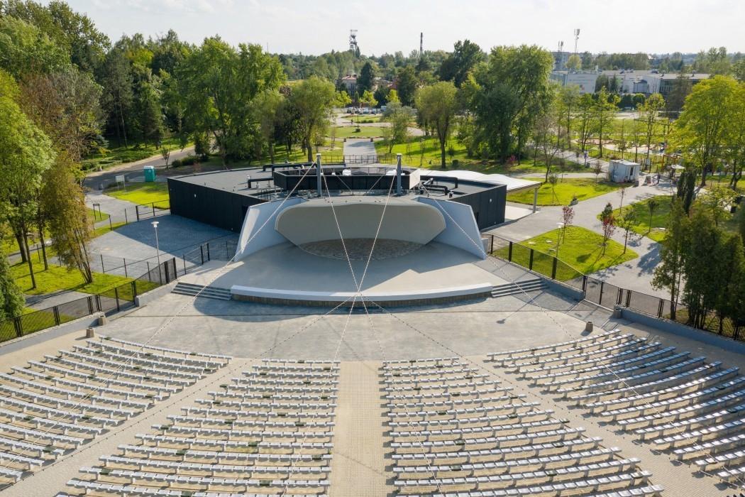Amfiteatr Muszelka w Parku im. Jacka Kuronia w Sosnowcu. fot. mat. organizatora